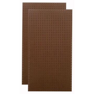 Board Hardboard Pegboard Brown/Brown 3.2mm thick-2440x1220mm