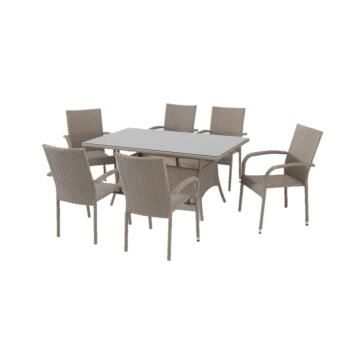 Dining Set Verona with 6 armchairs Excludes accessories