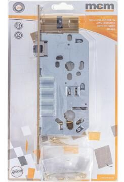 mcm 3-pin deadlock brass 50mm