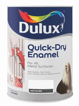 Meatl paint DULUX Quick Dry Enamel Black 5L