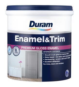Gloss enamel paint DURAM Enamel & Trim Battleship Grey 1L