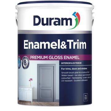 Enamel & Trim Paint Interior/Exterior Gloss DURAM White 5l