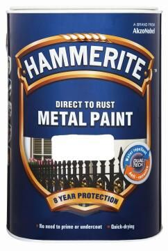 Direct to rust metal paint HAMMERITE hammered Silver Grey 5L