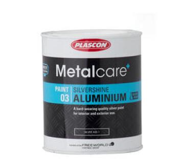 Metalcare Silvershine Aluminium Silver PLASCON 500Mliters