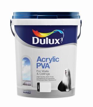 Paint interior exterior matt DULUX ACRYLIC PVA Oat Fields 20L,