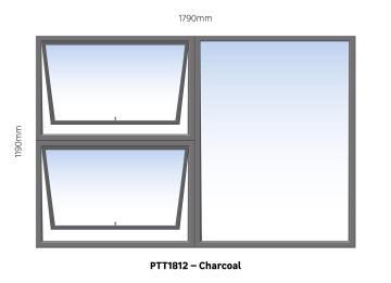 WINDOW ALU TH PTT1812 CHAR 1790X1190MM