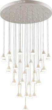 CHANDELIER LED ADAM 36 LIGHT WHITE