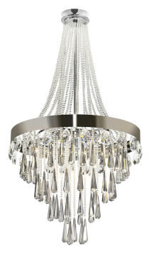 CHANDELIER 18 LIGHT CRYSTAL CHROME