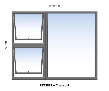 WINDOW ALU TH PTT1512 CHAR 1490X1190MM