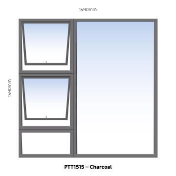 WINDOW ALU TH PTT1515 CHAR 1490X1490MM