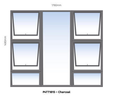 WINDOW ALU TH P4TT1815 CHAR 1790X1490MM