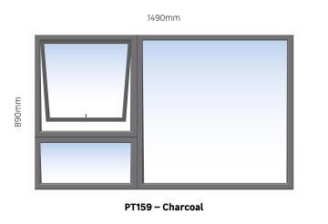 WINDOW ALU TH PT159 CHAR 1490X890MM
