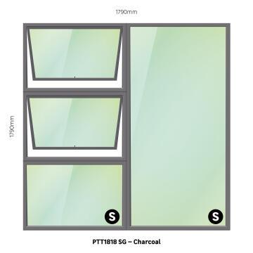 WINDOW ALU TH PTT1818 CHAR 1790X1790MM