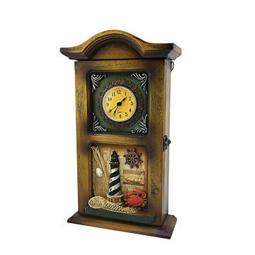 Decorative key holder ocean clock 4 keys 1st price