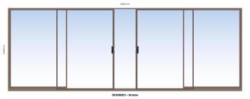 Sliding Door Aluminium Center Opening (OXXO) Bronze-w5890xh2090mm