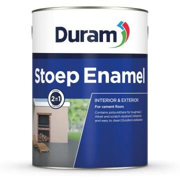 Primer and topcoat for cement floors DURAM Stoep Enamel Red Clay 5L