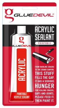 Acrylic sealant paintable 90ml gluedevil