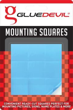 Mirror squares 9x24mmx24mm gluedevil