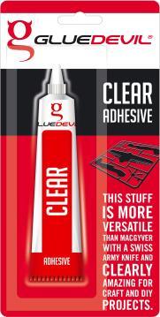 Clear adhesive 25ml gluedevil