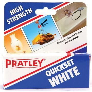 Adhesive high strength quickset white 40ml pratley