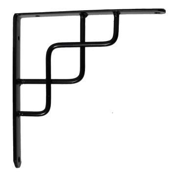 Shelf bracket celtic black 20x17cm l&g tools