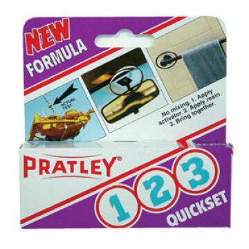 Adhesive quickset 1-2-3 40ml pratley