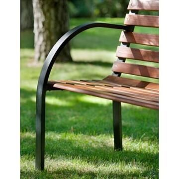 Bench Steel and Wood 122 cm X 60 cm X 80 cm (NON-FSC)