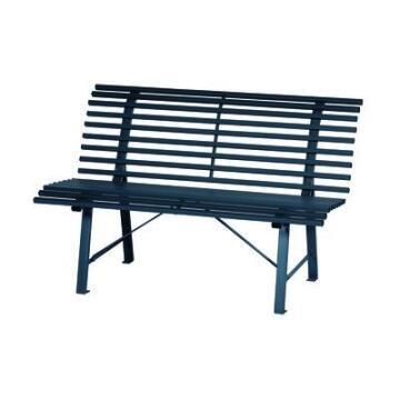 Bench Park 150 cm X 72 cm X H 81 cm Steel Charcoal Grey