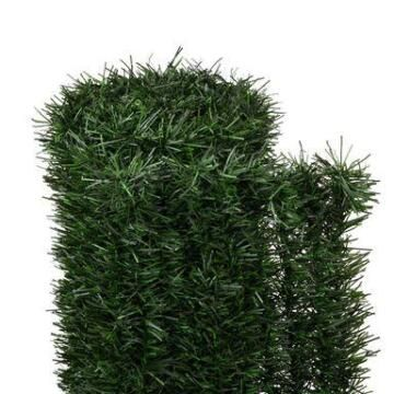 Hedge Artificial NATERIAL Pine Look High Privacy 95% BI-Colour 1,5 m X 3 m