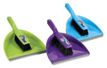 Clip-together dustpan & brush ADDIS set