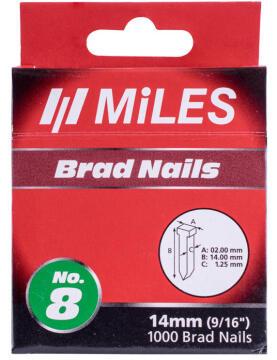 brad nail galv t14 18g 14mmx1000pcs no8