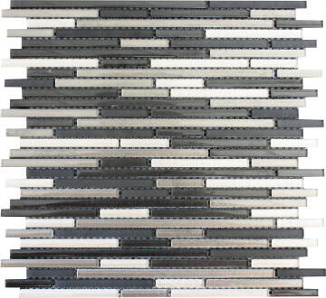 Mosaic Glass Tile Linear 300x300mm