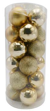 COLORFUL CHRISTMAS BALL24PCS/SETGOLD 4CM
