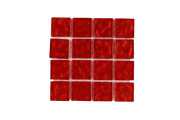 P-METALLIC TEXTURE CHERRY RED 23X23X4MM