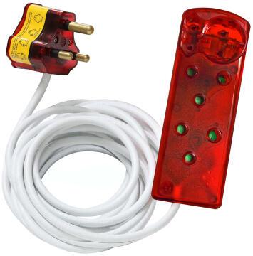 4 Way Surge M/Plug 5M 2X3 Pin + 2X2 Pin