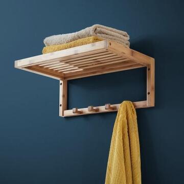 Towel rack w hanger quadro bamboo SENSEA