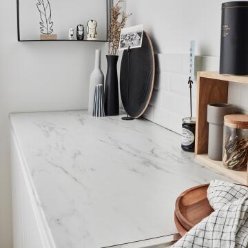Kitchen worktop laminate Marmo Blanco 2460X635X38