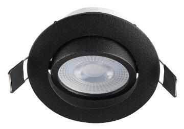 DOWNLIGHT BLACK&BULB WARM/W TILT LED
