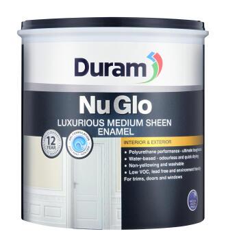 Medium Sheen Enamel paint DURAM NuGlo Pebble 1L
