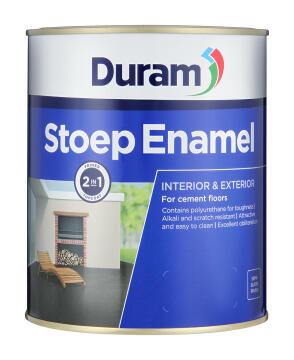 Primer and topcoat for cement floors DURAM Stoep Enamel Platinum 1L