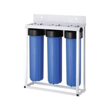 """3 stage filter unit with 20"""" filter housings and wall mounting"""