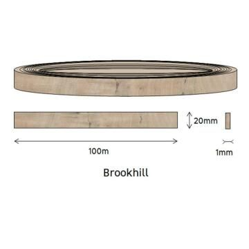 Edging PVC Roll Brookhill Fusion-1mm thick-w20mmxl100m