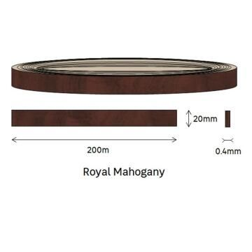 Edging PVC Roll Royal Mahogany-0.4mm thick-w20mmxl200m