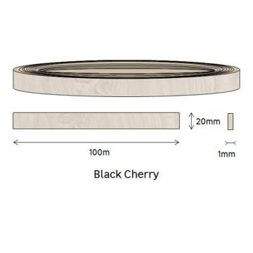 Edging PVC Roll Black Cherry-1mm thick-w20mmxl100m