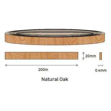 Edging PVC Roll Oak-0.4mm thick-w20mmxl200m