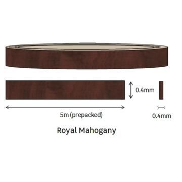 Edging Melamine Pre Glued Roll Royal Mahogany-0.4mm thick-w20mm-L5m