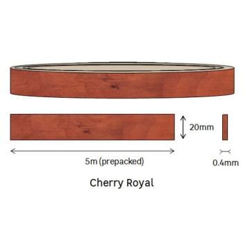 Edging Melamine Pre Glued Roll Cherry Royal-0.4mm thick-w20mmxl5m