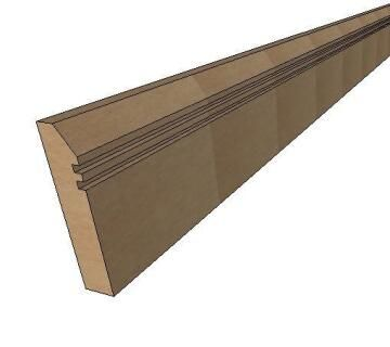 Skirting MDF Style 4-18x70x2700mm