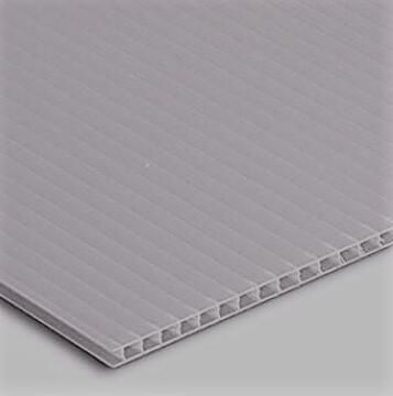 Synthetic Glass Polypropylene Hollow Core Grey 3mm thick-2000x1000mm