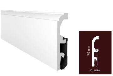 Skirting PVC P0910 White-20x90x2400mm